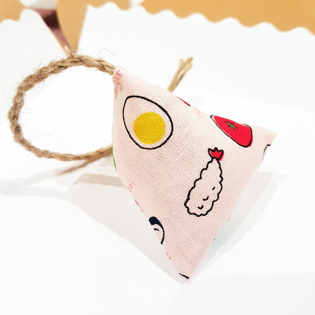 Japanese Onigiri おにぎり Catnip and Silvervine Toy in Sweet Pink
