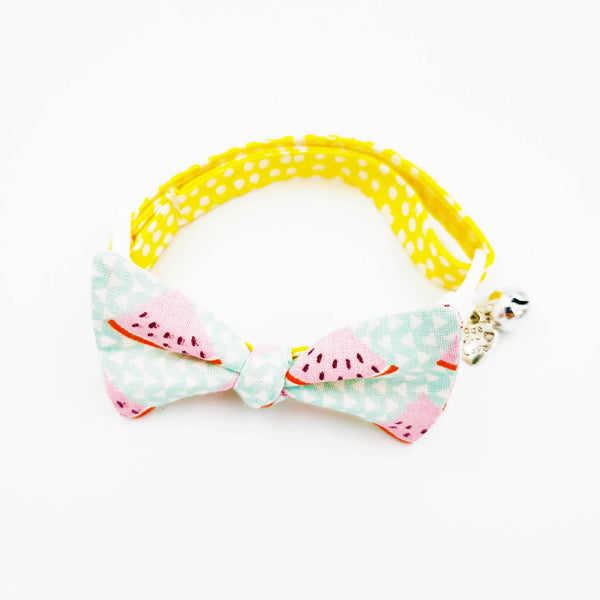 NEW! Sweet Yellow Watermelon Bow Cat Collar
