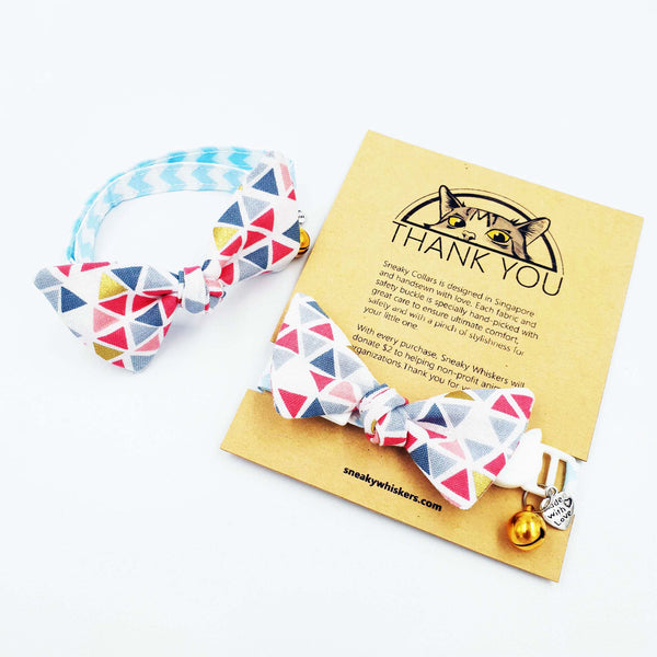 Geometric Summer Dream Cat Collar