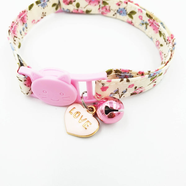 NEW! Floral Summer Love Cat Collar