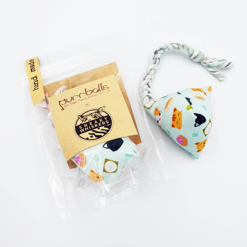 [Purrballs X Sneaky Whiskers] Singapaw Kueh Catnip & Silvervine Toy