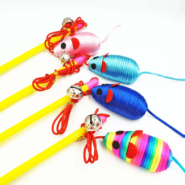 Cheery Cat Teaser Mouse (Available in 4 Colours)