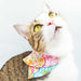 Japanese Flora CNY Double Layer Scarf Cat Collar