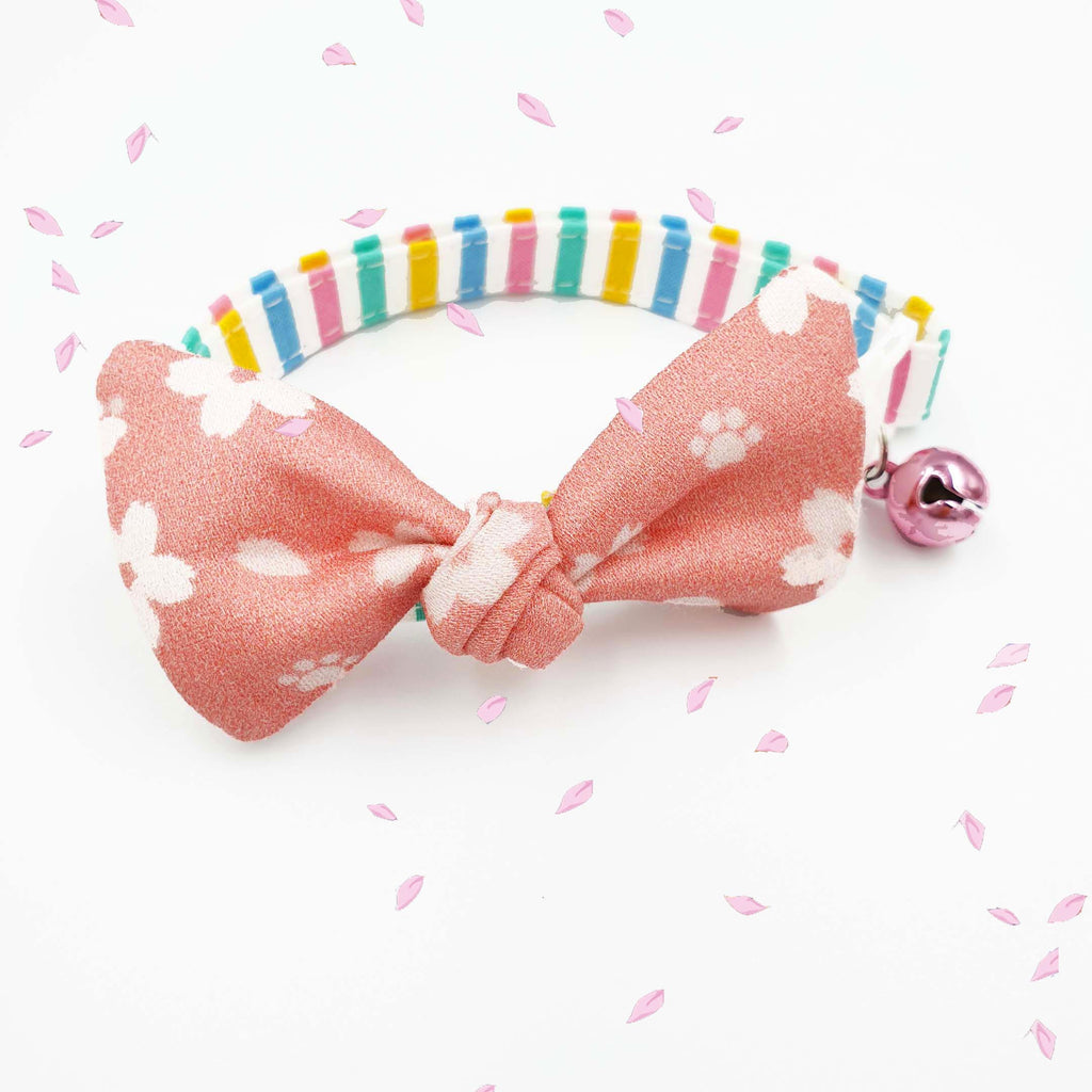 [Purrballs X Sneaky Whiskers] Petite Hanami Bow Collar