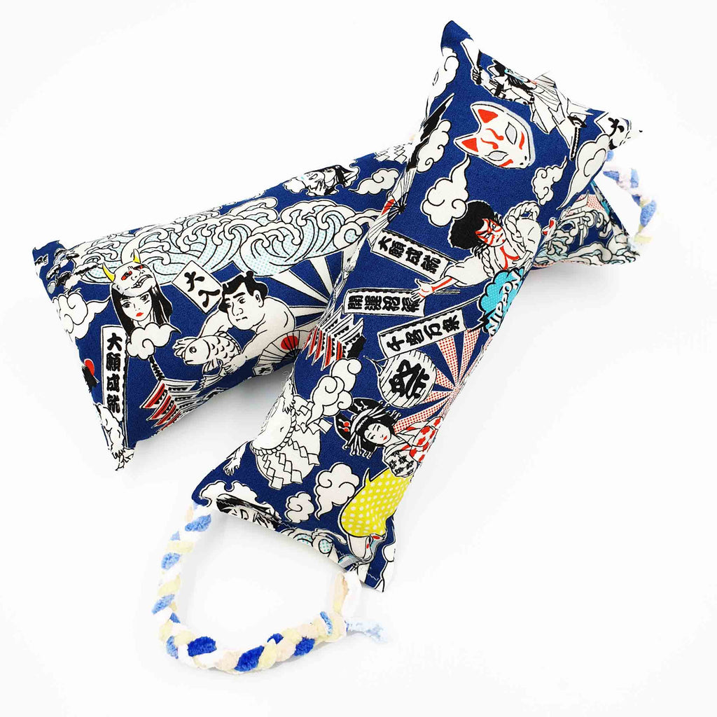 Japanese Festival Catnip & Silvervine Bolster (Available in Large Sizes)