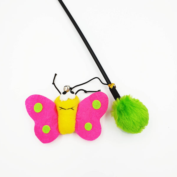 Fluffy Butterfly Cat Toy