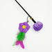 Pretty Purple Flower Cat Toy