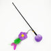Pretty Purple Flower Cat Toy Teaser