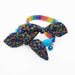 Night Magical Fantasy Bow Cat Collar