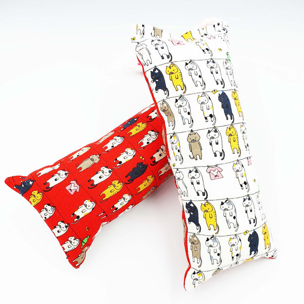 Mega Cute Cat Laundry Catnip & Silvervine Bolster (Available in large sizes)