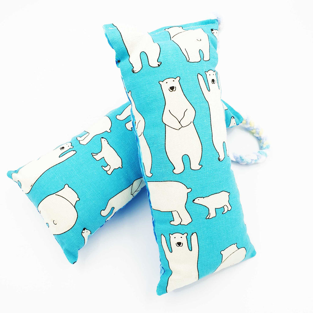 Fun Ocean Polar Bear Catnip & Silvervine Bolster - LARGE