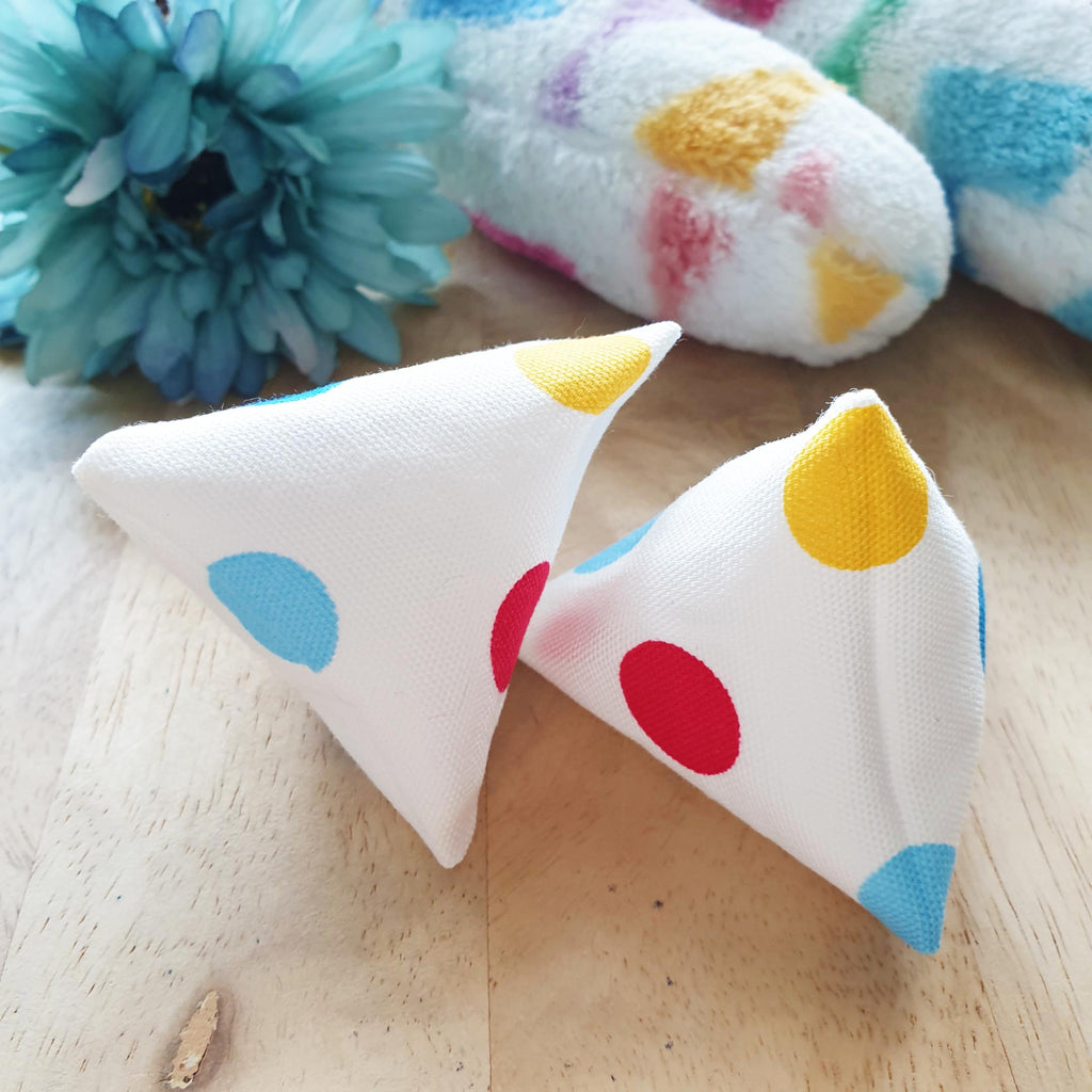 Colourful Polka Catnip Silvervine Onigiri Toy