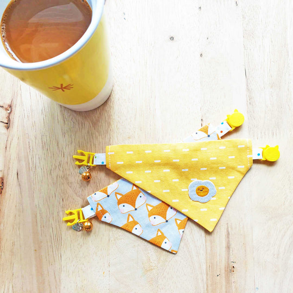 Sunny Side Up Eggs Scarf Cat Collar