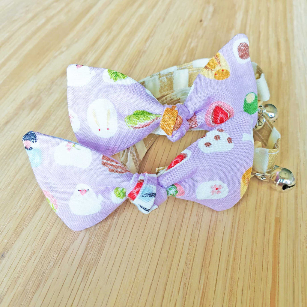 Ube Sweets Bow Cat Collar