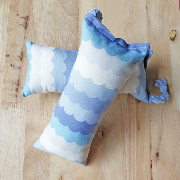 Grey Cotton Candy Catnip & Silvervine Bolster - LARGE