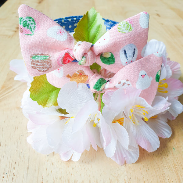 Japanese Sweets Bow Cat Collar in 2 Colours