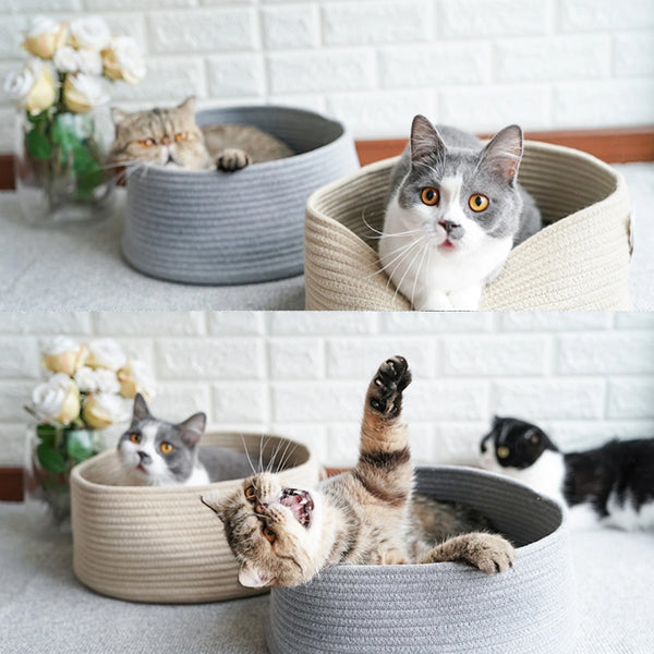 Back-to-Basic Minimalist Cat Bed (Available in 2 Colours)
