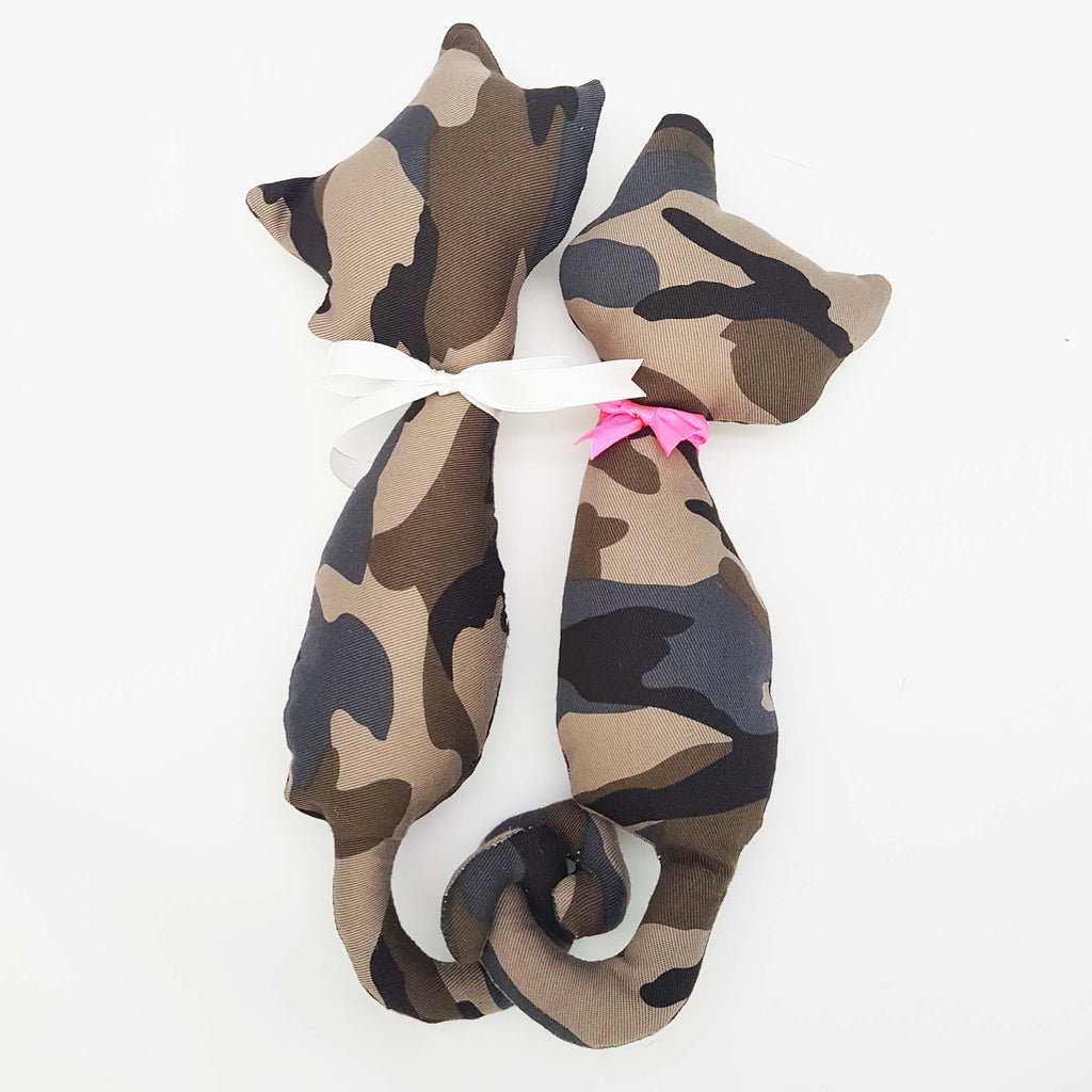 Limited Edition Premium Camo Love Cats Plushy