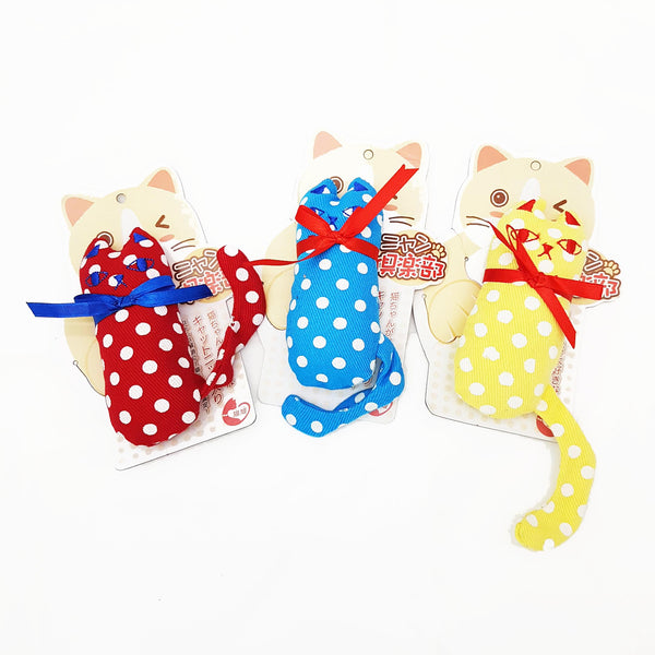 Japanese Polka Dots Catnip Meow (Available in 3 colours)