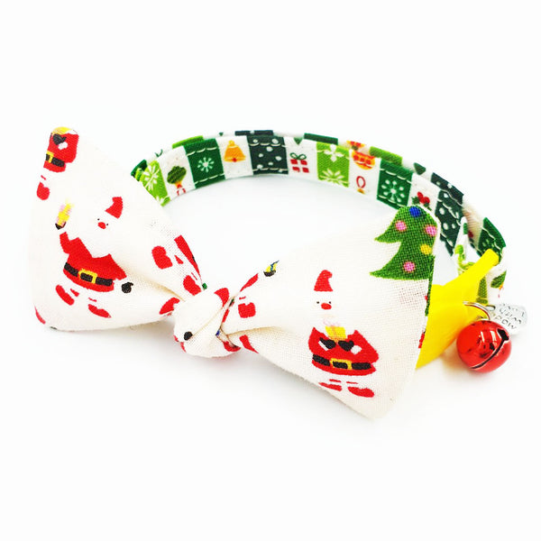 Hey! Santa Cat Collar Bow