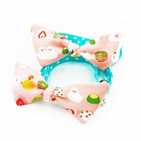 Japanese Sweets Bow Cat Collar