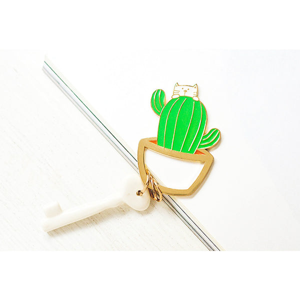 Korean Creative Cat Cactus Keychain