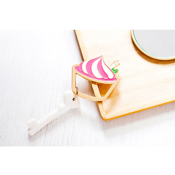 Korean Creative Cat Cupcake Keychain