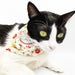 Lucky Cat CNY Side Scarf Cat Collar