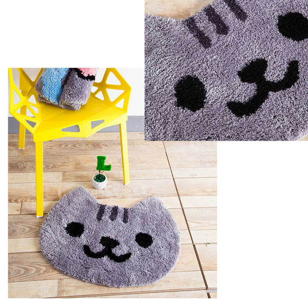Smiling Cat Face Carpet