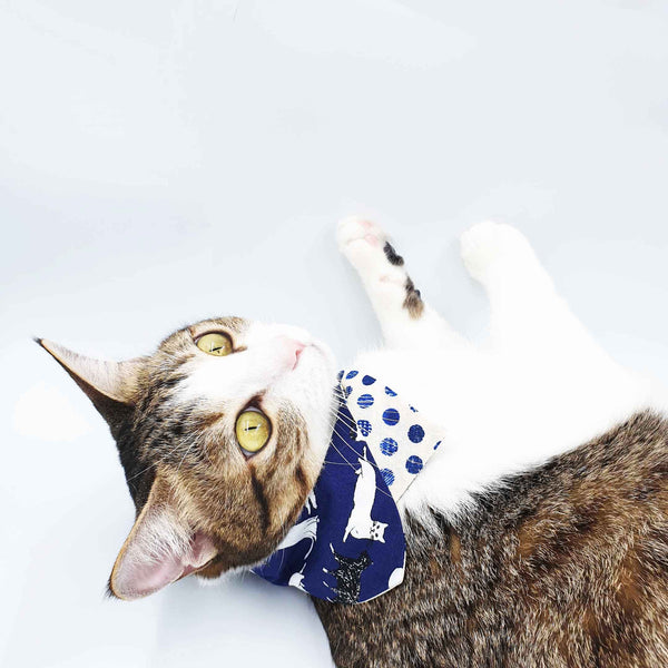 Tokyo Cats Double-Sided Scarf Cat Collar