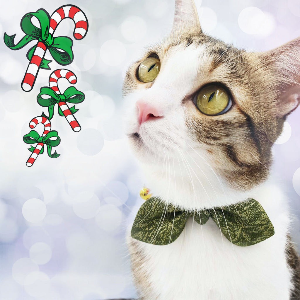Cat Collar Bow Christmas Edition