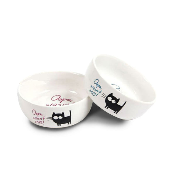 cat food bowl available in 2 colours