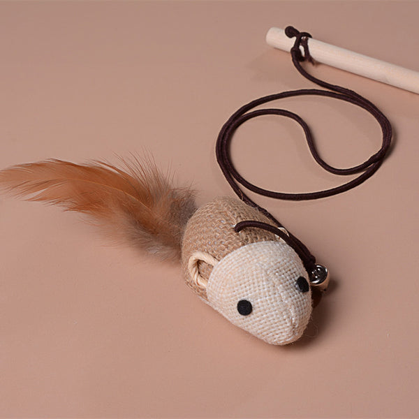 [WhiskersDirect] Faux Mouse on Wooden Rod Teaser