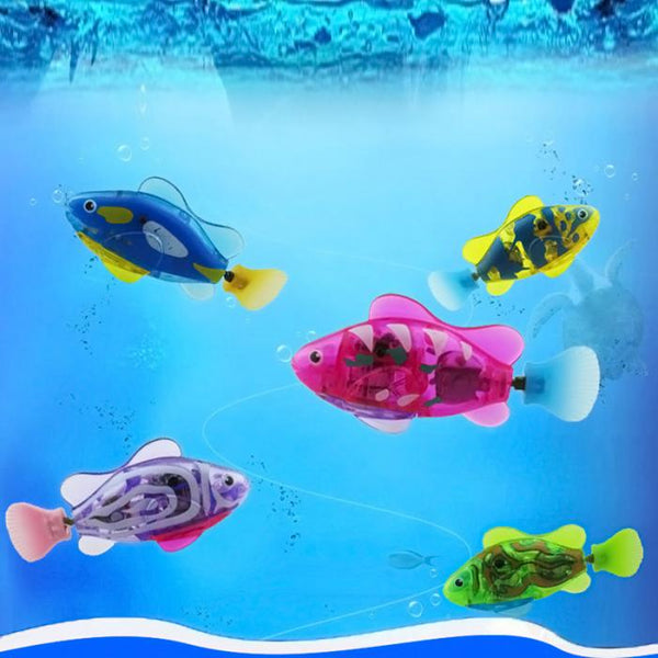 [WhiskersDirect] Automatic Transparent Coloured Moving Robot Fish Toys (Colours Randomly Given)