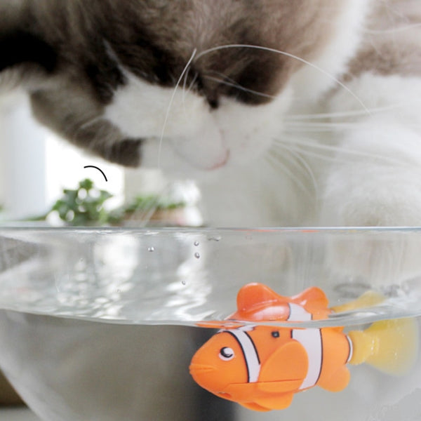 [WhiskersDirect] Automatic Moving Robot Fish Toys (Many Colours Available)