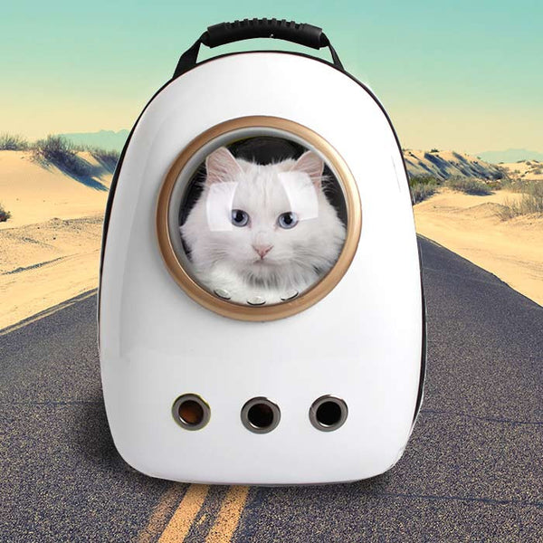 Minimalist Cat Astronaut Capsule Pet Backpack (More Colours Available)