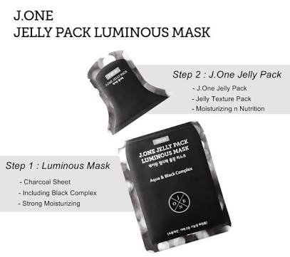 J.  One Jelly Pack Luminous 2 Step Mask
