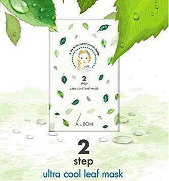 A. by Bom Super Power Baby Ultra Cool leaf 2 Step Sheet Mask