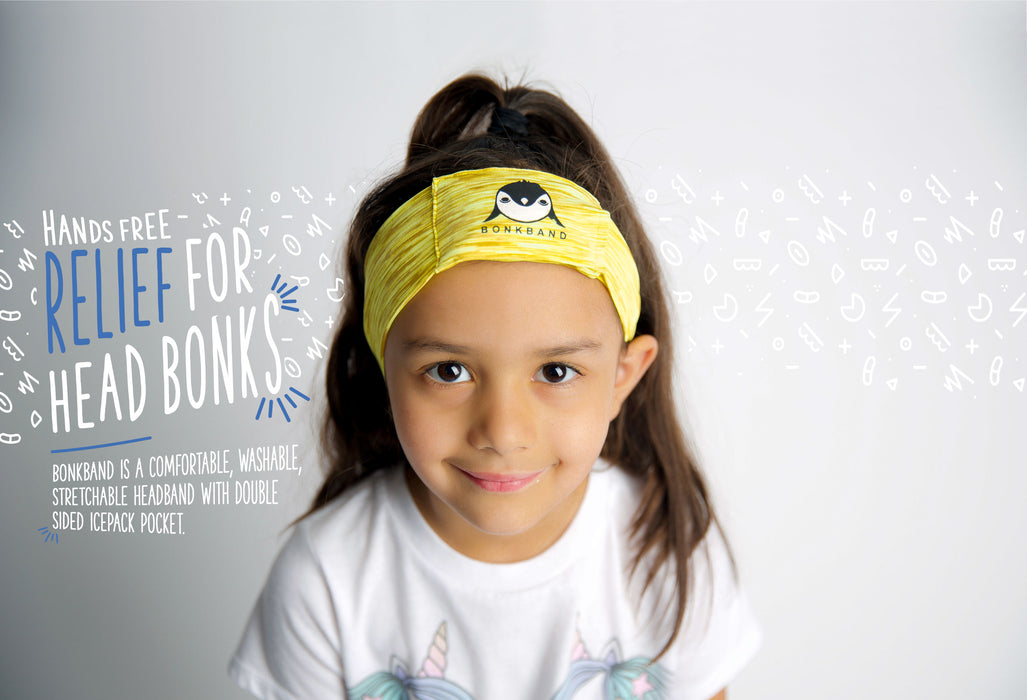 Headband spandex one size fits all ice relief swelling bumps and bruises