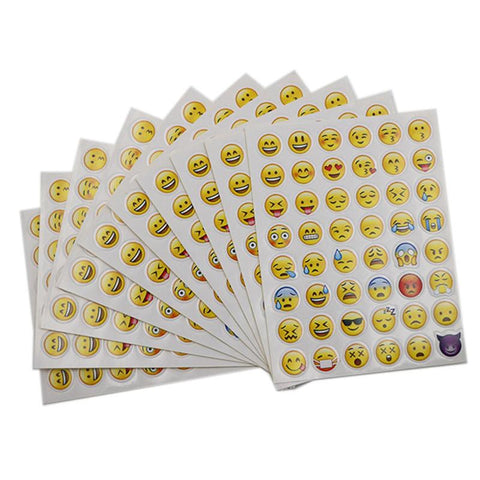 48 Different Emoji Smile Face Stickers For Notebook