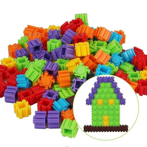 Multicolor Plastic Puzzle Building Toy