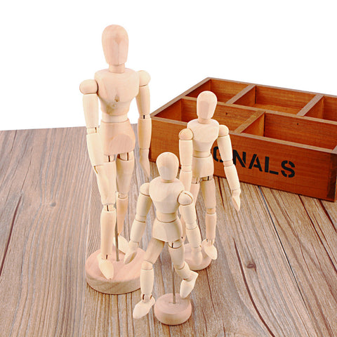 Wooden Movable Limbs Male Toy