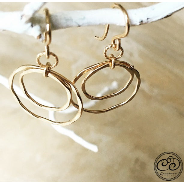 Laurel Earrings - Gold - Cassiano Designs