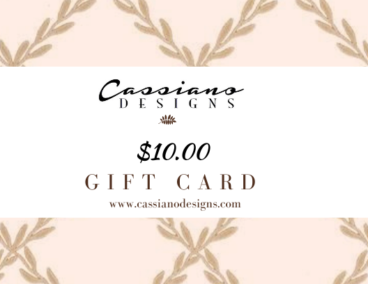 Gift Cards - Cassiano Designs