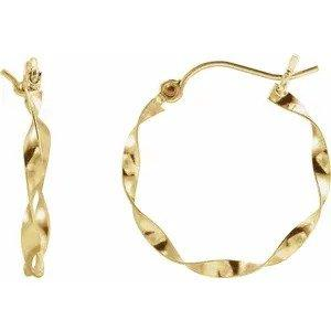 Layla Twisted Gold Earrings - 14k Fine