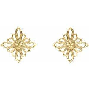 Zara Vintage-Inspired Geometric Earrings - 14k Fine