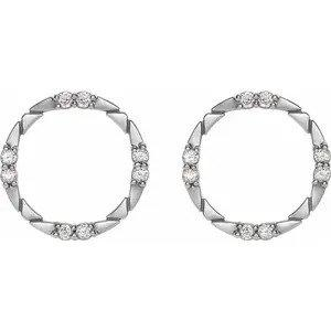 Norah Diamond Geometric Earrings