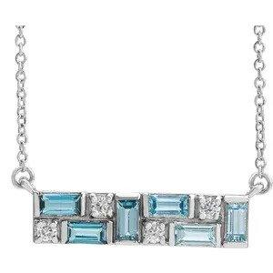 Eden Gemstones & Diamond Necklace