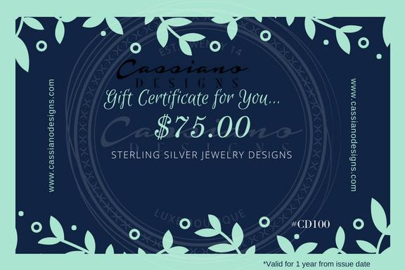 A $75.00 Gift Certificate for You! - Cassiano Designs
