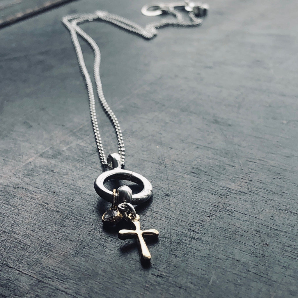 Gold Cross Charm Set ~ Tinori Collection